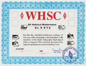 The WHSC Award